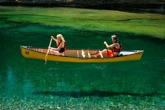 Canot sur la rivière Bonaventure
