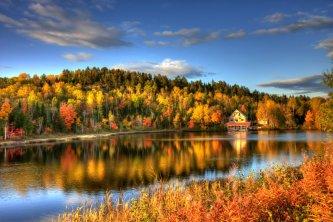 Parc de la Jacques-Cartier en automne