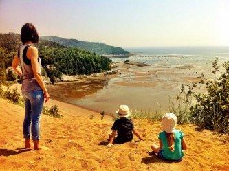 Point de vue des dunes de sable de Tadoussac