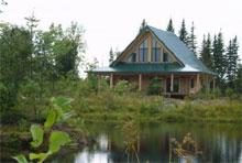 Aux chalets de bois rond, près de Québec