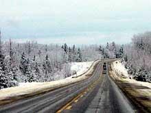 Les routes du Québec en hiver