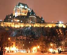 La ville de Québec et le château Frontenac