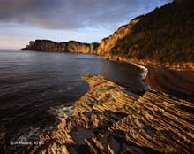 Cap Bon Ami du Parc National de Forillon en Gaspésie