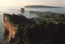 Rocher Percé et l'Île Bonaventure en Gaspésie