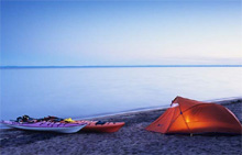 Kayak-camping au Lac Saint-Jean