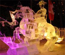 Sculpture de glace au Bal de Neige