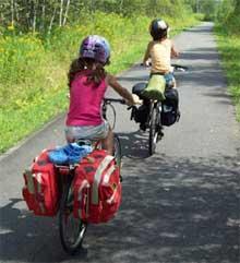 Cyclo-touristes en herbe