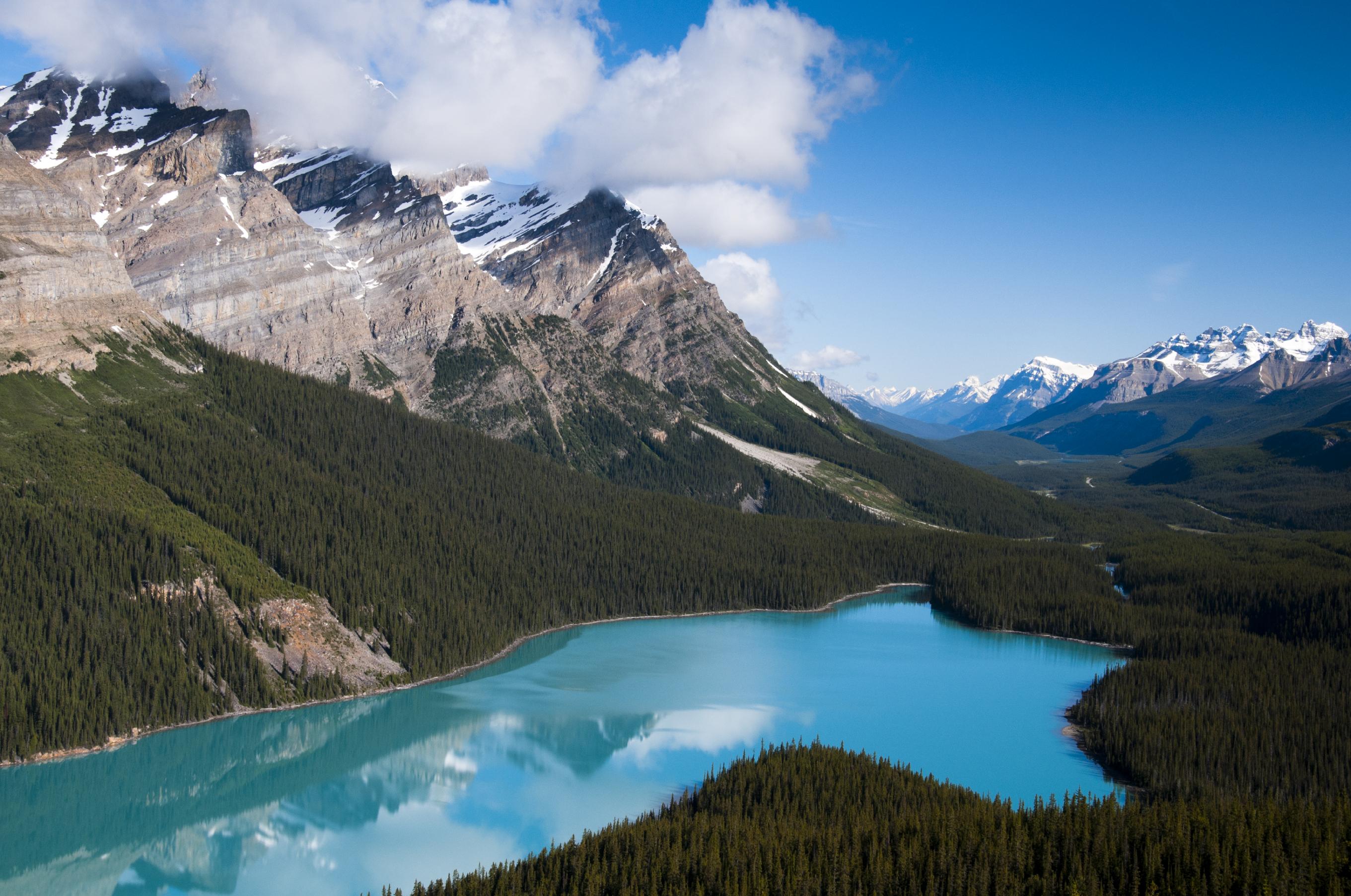 Arrêt sur la Promenade des Glaciers - Lac Peyto