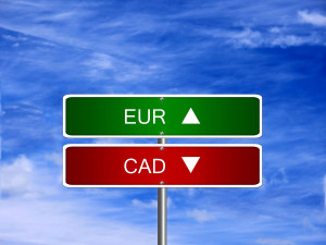 Taux de change euro vs dollar canadien
