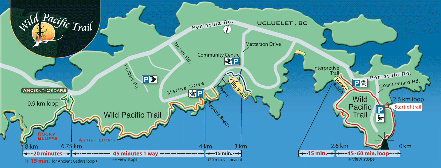 Carte de la Wild Pacific Trail