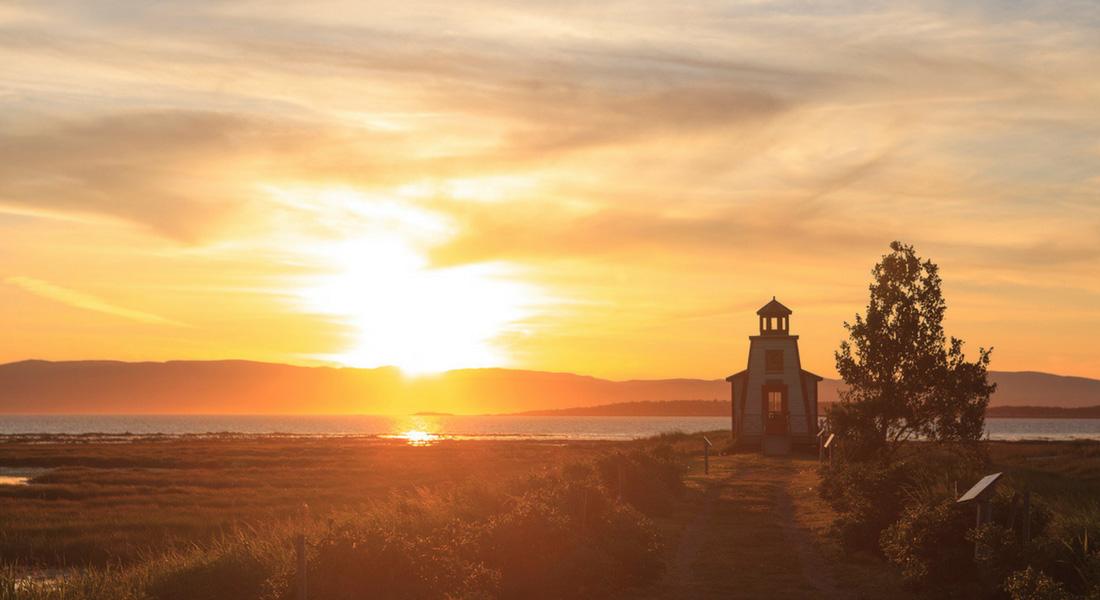 coucher de soleil à Kamouraska, Province de Québec